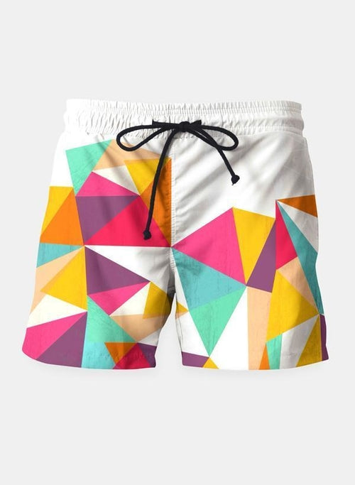 Geo-Diamond Beach Shorts