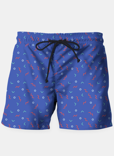 Funky Wiggler Retro Beach Shorts