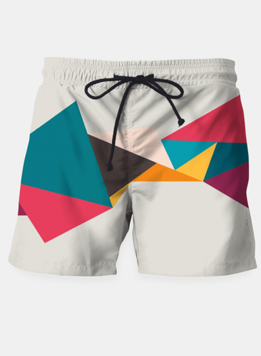 Geometry Fly Beach Shorts