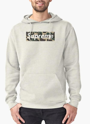 Supreme Camo Hoodie Grey - Comfy | Simple | Happy