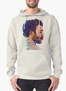 Abstract Gambino Grey Hoodie