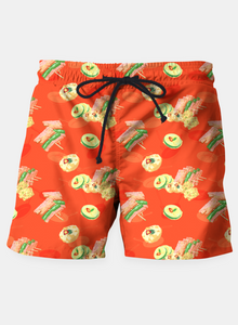 Korean Foods Beach Shorts
