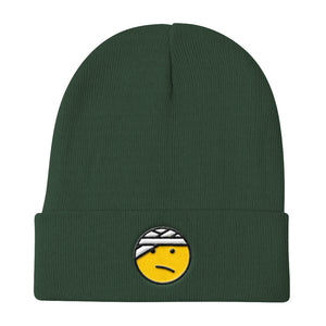 "Knit Beanie ""Head Trauma Emoji"""