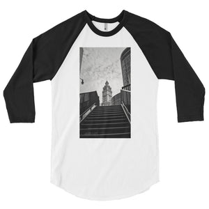 """City Stairs"" - 3/4 sleeve raglan shirt"