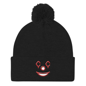 "Winter Knit Beanie - ""Clowning Emoji"""