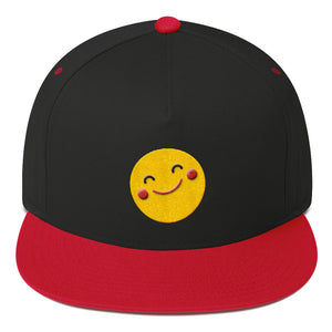 "Flat Bill Snapback ""Super Happy Blushing Emoji"""