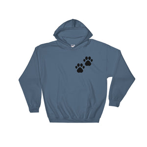 """Dog Lovers - Paw Printed"" Hoodie Sweatshirt"