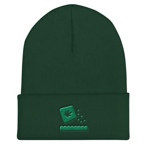 Cuffed Beanie - Growing Weed Embroidery