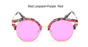 Multi-Colored Summer Fashion Round Women's Sunglasses | Mirror Lenses