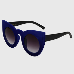 Sexy Plush Cat Eye Sunglasses with Velvet Frame