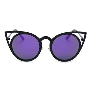 Sexy Cat Eye Style Sunglasses | Metal/Copper Frame | UV400 Mirrored Lenses