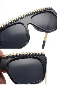 CHAINZ - FLAT TOP CHAIN CUT FRAME SUNGLASSES