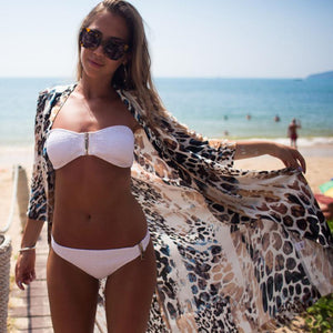 Leopard Printed Beach Cover Up