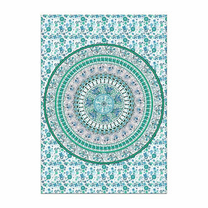 Green & Blue Geometric Beach Cover Up | 100% Polyester
