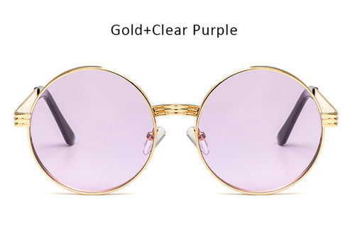 Women's Round Retro Sunglasses | Gradient UV400 Lenses