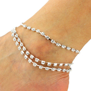 Diamond Tassel Bells Anklet