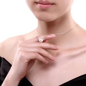S925 Silver Pearl Pendant Necklace