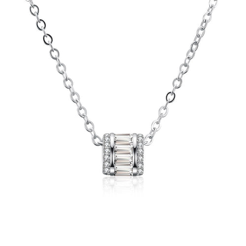 S925 Silver Zircon Fashion Necklace