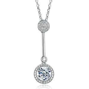S925 Silver Fashion Trend Key Necklace