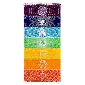 Large Summer Rainbow Beach Towel / Blanket | 100% Polyester