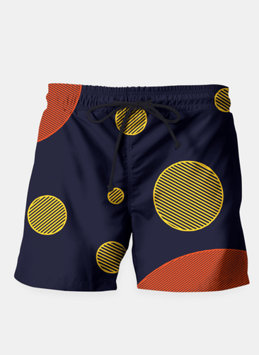 Orange Yellow Vector Beach Shorts