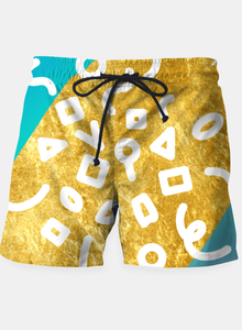 Abstract Solar System Beach Shorts
