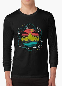 Isotope of Life Black Long Sleeve T-Shirt