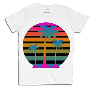 "T-Shirt Uomo ""80s Palms"""