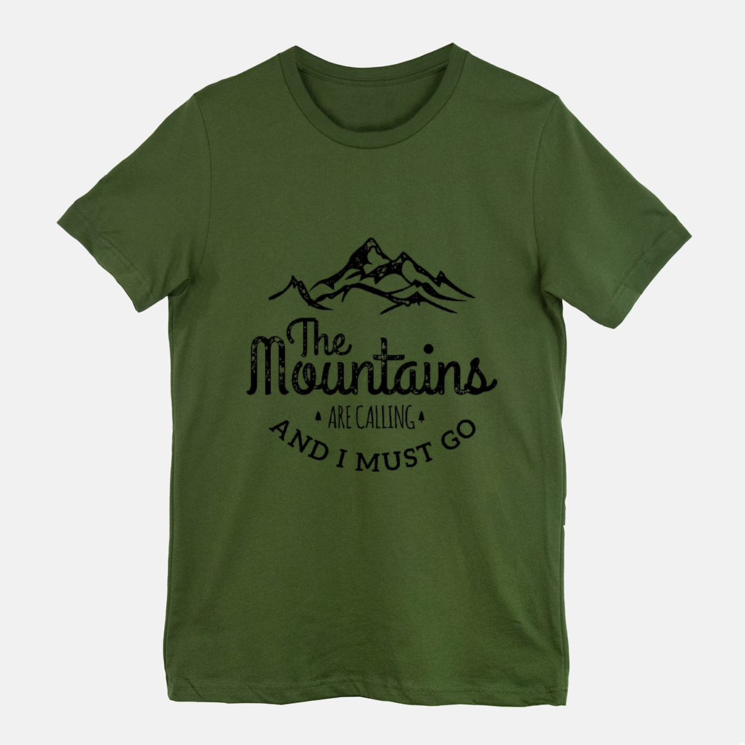 The Mountains Are Calling Men's Tee Shirt
