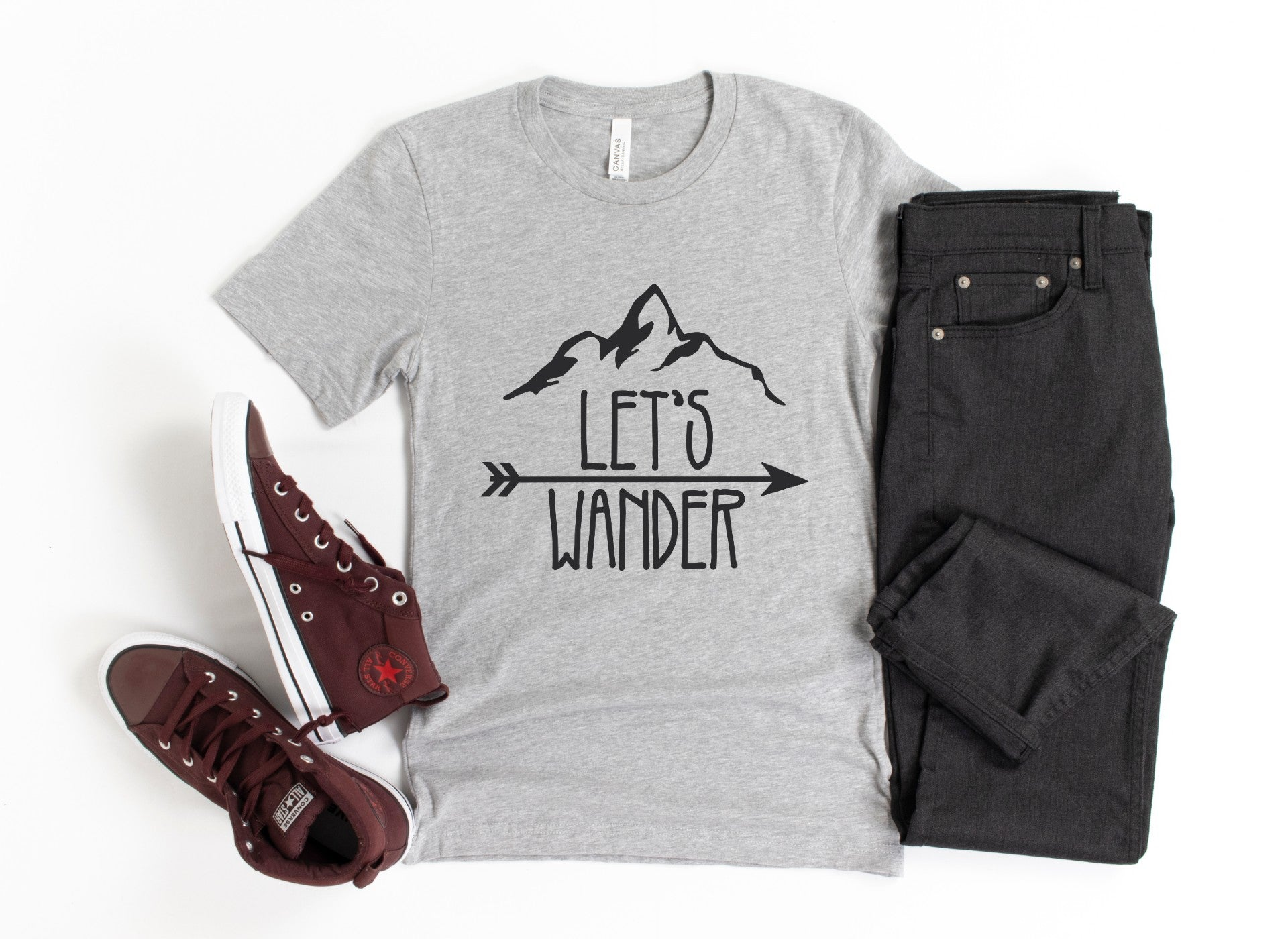 Lets Wander Men's Tee Shirt