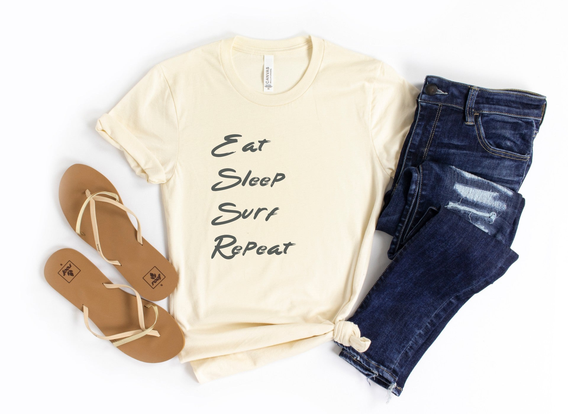 Eat Sleep Surf Repeat Tee Shirt