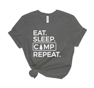Eat Sleep Camp Repeat Tee Shirt