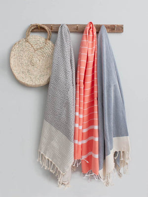 Arizona Hammam Turkish Towel/Throw Blanket, Denim