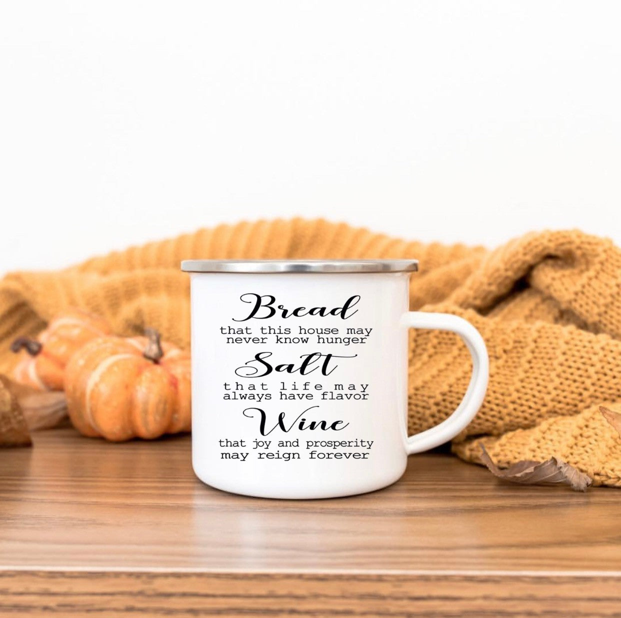 Bread-Salt-Wine 10oz camp mug