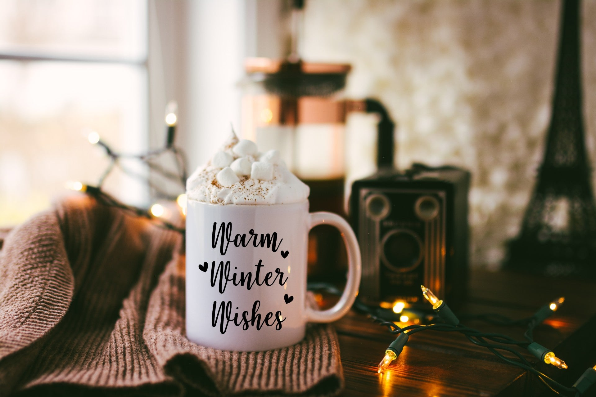 Warm Winter Wishes Deluxe Mug 11oz or 15oz