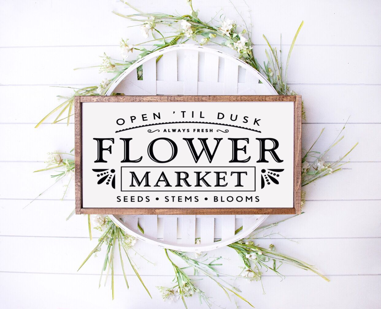Flower Market Farmhouse Wooden Sign 25% OFF