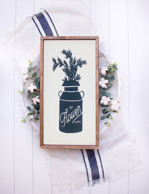 Flower Shoppe Farmhouse Wooden Sign