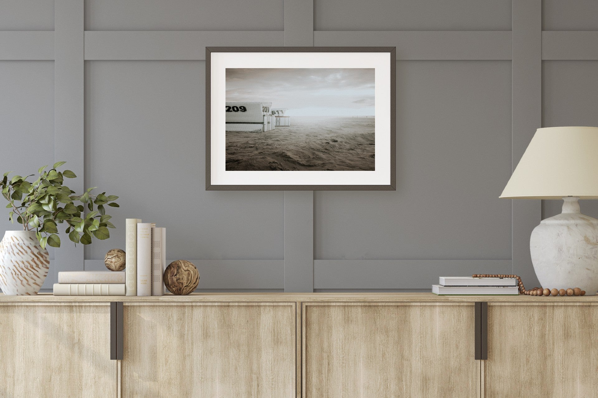 Lifeguard Towers Muted Color Print