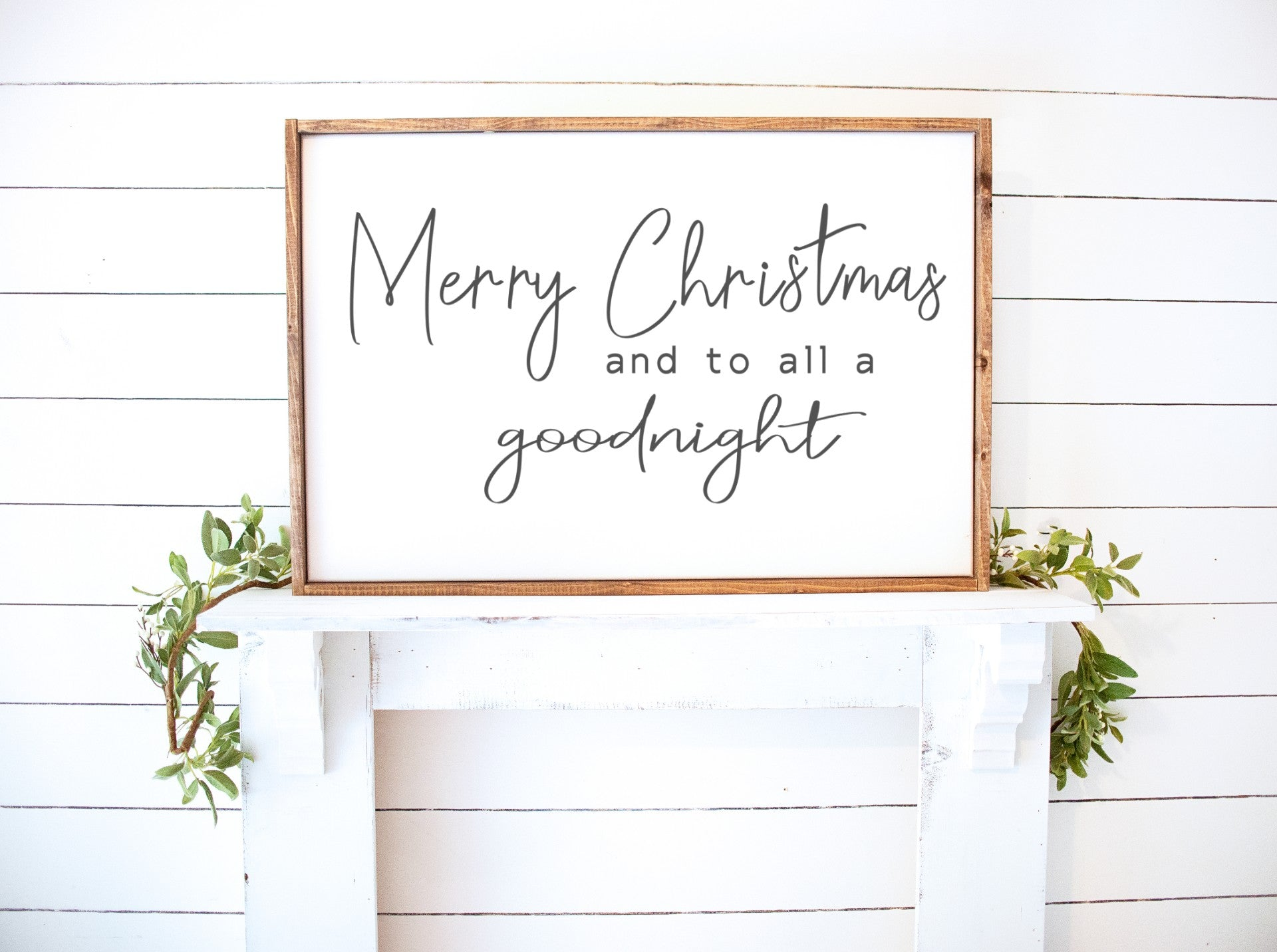 Merry Christmas and to all a good night Farmhouse Wooden Sign