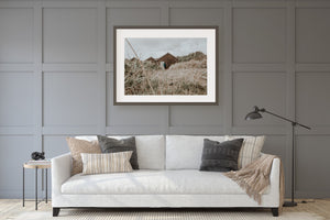 Beach Hut Muted Color Print