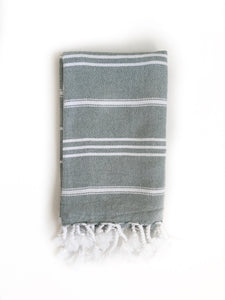 Mint/White Turkish Hand Towel