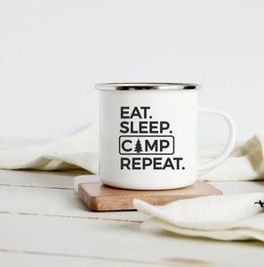 Eat Sleep Camp Repeat 10oz camp mug