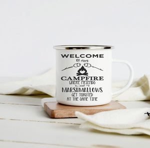 Welcome to our campfire 10oz camp mug