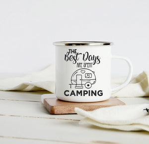 The best days are spent camping 10oz camp mug