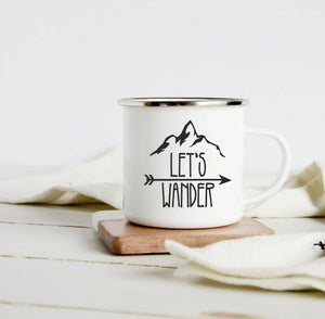 Lets Wander 10oz camp mug