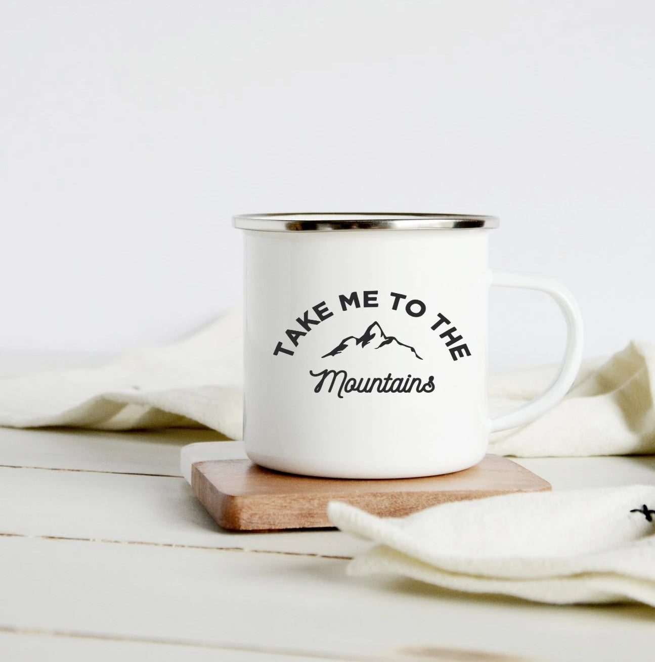 Take me to the mountains 10oz camp mug
