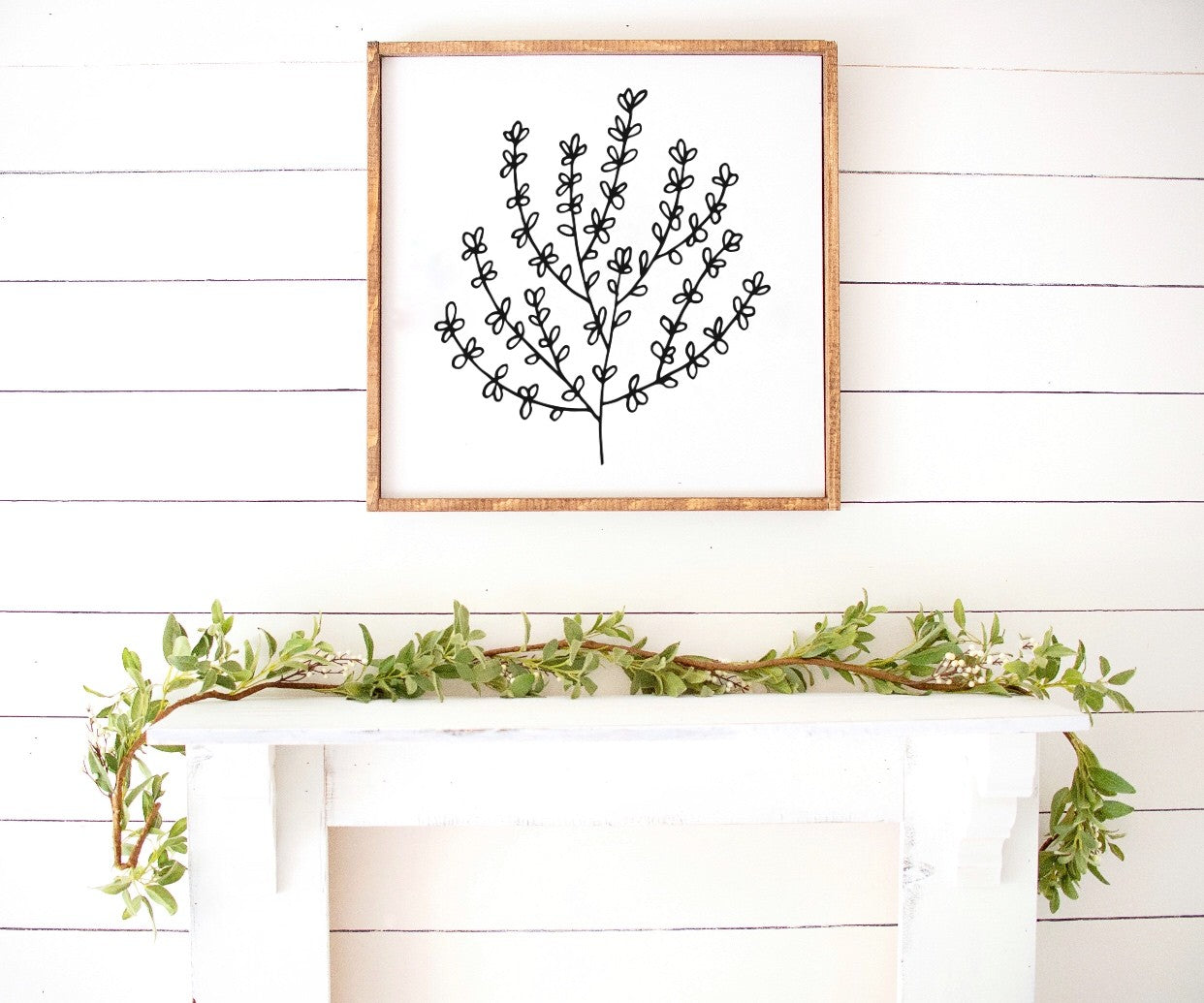 Spring Flowers Farmhouse Wooden Sign