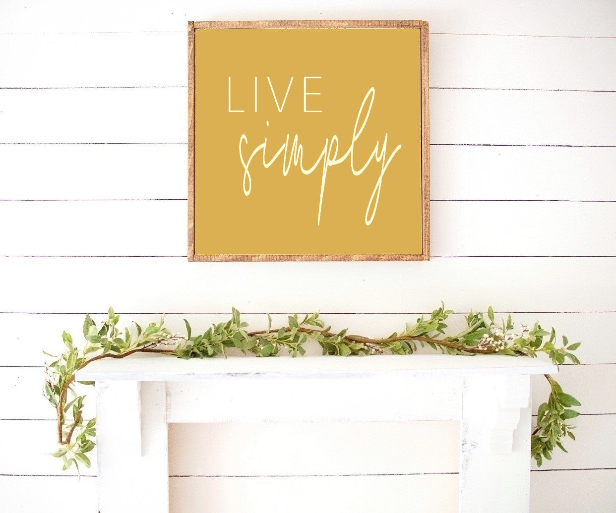 Live Simply -Farmhouse Wooden Sign