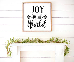 Joy to the world Farmhouse Wooden Sign