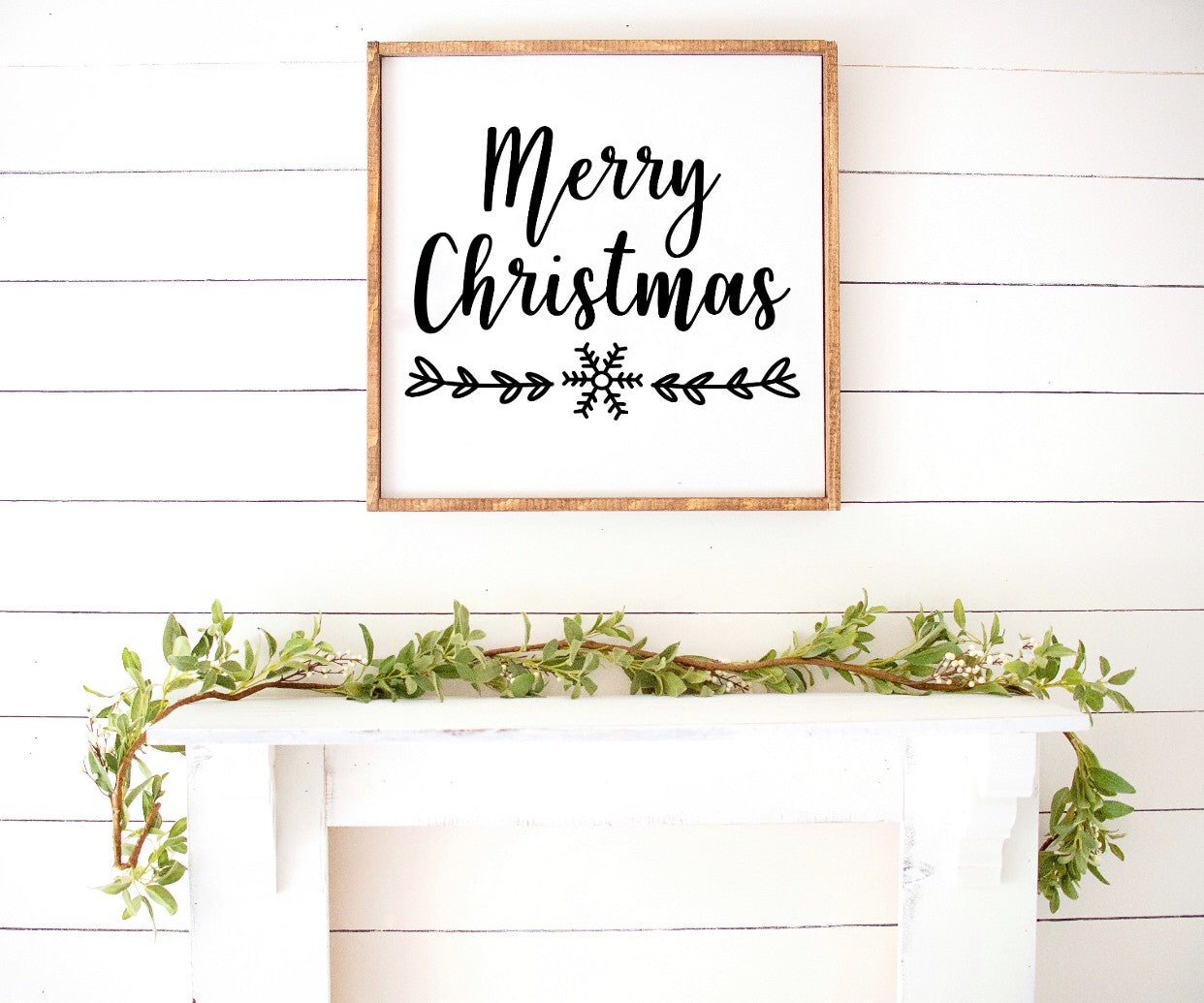 Merry Christmas - Farmhouse Wooden Sign